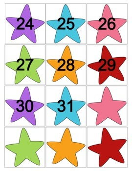 Colorful Star Calendar Cards