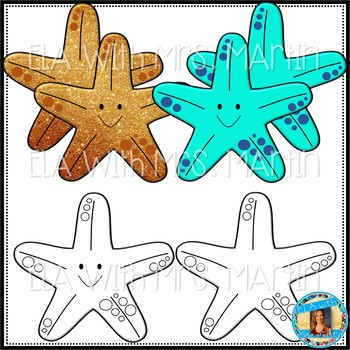 Colorful Starfish Clip Art Pack