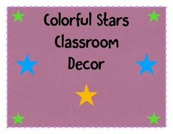 Colorful Stars Classroom Decor
