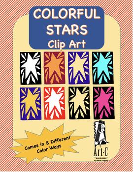 Colorful Stars Clip Art