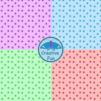 Colorful Stars Digital Paper