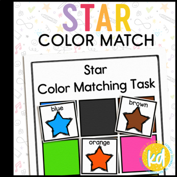 Folder Game: Stars Color Matching for Students with Autism & Special Needs