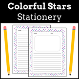 Stationery Writing Paper | Colorful Stars