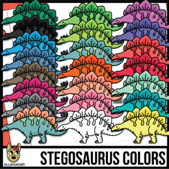 Colorful Stegosaurus Clip Art