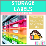 Colorful Storage Labels