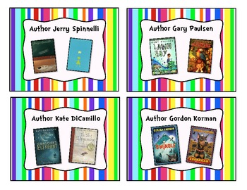 Colorful Stripe Classroom Library Book Basket Labels Add-On