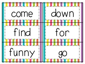 Colorful Stripe Theme Word Wall