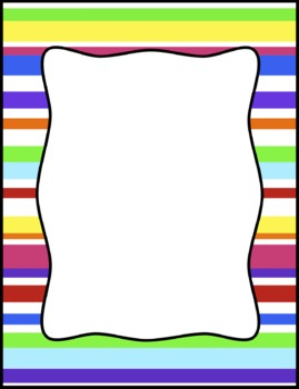 colorful stripes frames borders background clip art by tracee orman rh teacherspayteachers com free borders and frames clipart clipart frames and borders black and white