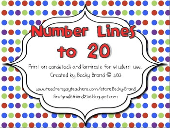 Colorful Student Number Lines
