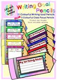 Colorful Student Writing Goal Pencils & Class Focus Pencil