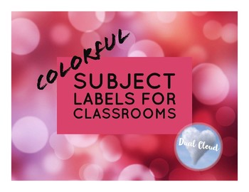~ 18 Colorful Classroom Labels! ~