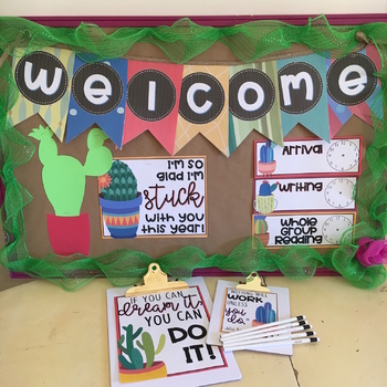 Colorful Succulent Themed Classroom Decor! EDITABLE [250+ Pages]