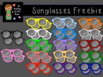 Colorful Summer Sunglasses Clip Art FREEBIE