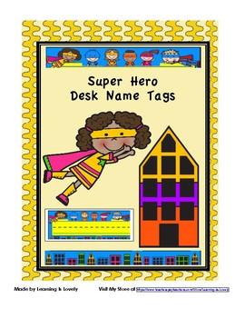 Colorful Super Hero Desk Name Tags