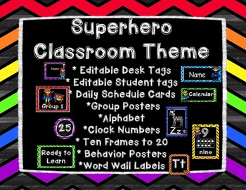 Colorful Superhero Classroom Theme