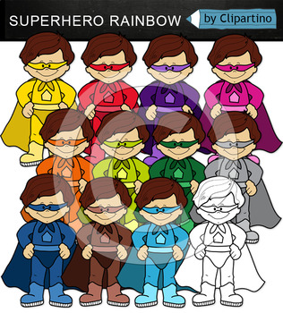 Colorful Superhero Clipart (standing)