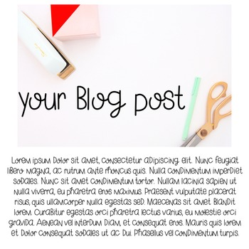 Styled Image: Colorful Supplies Teacher Desktop