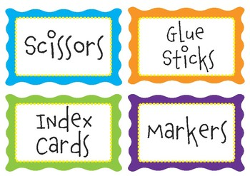 Colorful Supply Labels