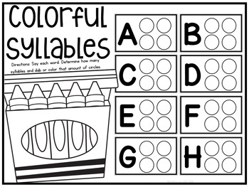 Colorful Syllables {A Working With Words Center}