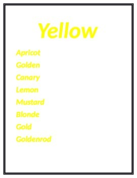 Colorful Synonyms