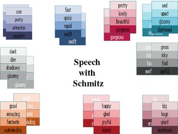 Colorful Synonyms On Paint Chips A Lesson In Colorful Writing TpT - Paint synonym