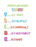 Colorful THINK poster