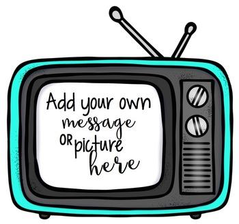 Colorful TV Frames Clip Art Bundle {Educlips Clipart}