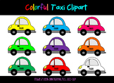 Colorful Taxi Clipart