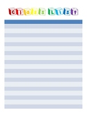 Colorful Teacher Binder