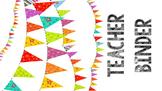 Colorful Teacher Binder (uneditable)