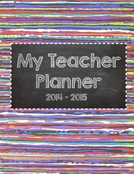 Colorful Teacher Planner