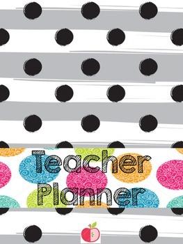 Colorful Teacher Planner DIY