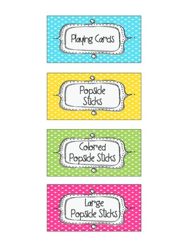 Colorful Teacher Toolbox Labels