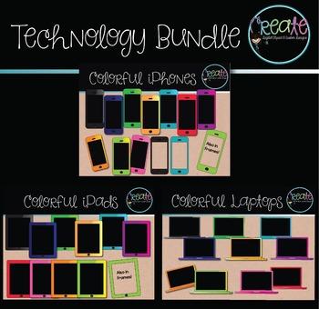 Colorful Tech Bundle - Digital Clipart