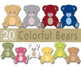 Colorful Teddy Bear Clip Arts