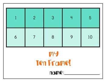 Colorful Ten Frame Mats!
