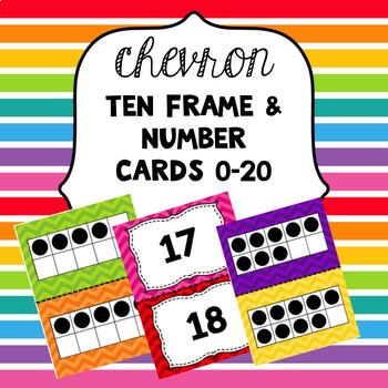 Chevron Ten Frames & Number Cards 0-20