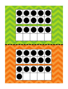 Chevron Ten Frames & Number Cards 0-20