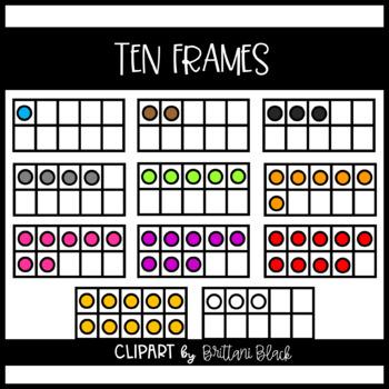 Colorful Ten Frames
