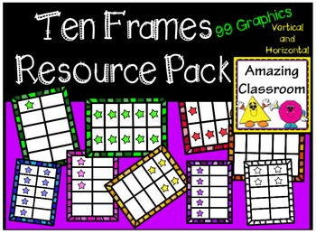 Colorful Ten Frames Clip Art Set