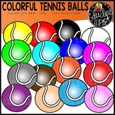 Colorful Tennis Balls Clip Art Set {Educlips clipart}