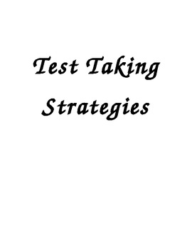 Colorful Test Taking Strategy Posters