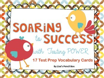 Colorful Testing Power  Vocabulary / Word Wall Cards