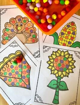 Colorful Thanksgiving Pom Pom Mats