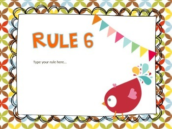 Colorful Themed Class Rule EDITABLE
