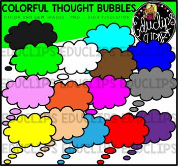 Colorful Thought Bubbles Clip Art Bundle {Educlips Clipart}