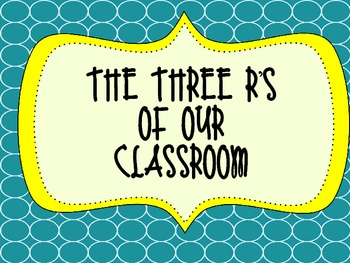 Colorful Three R's of Our Classroom Poster