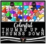 Colorful Thumbs Up & Thumbs Down Clip Art Bundle {Educlips Clipart}