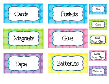 Colorful Toolbox Labels