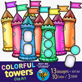 Colorful Towers Clip Art